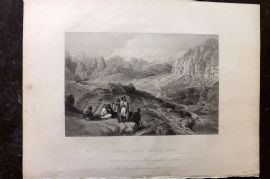 Gems of European Art 1846 Folio Print. Petra, Site of the City. Jordan